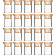 420 Focus Glass Jar with Wooden Lid (4 fl oz, 5-7 g, 20-pack)