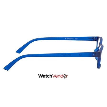 B+D Icon Reader Matt Blue +3.00 Eyeglasses 2400-57-30 - image 2 de 3