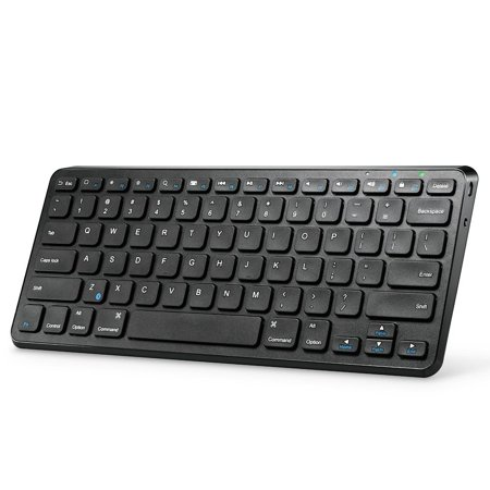 Anker Ultra Compact Slim Profile Wireless Bluetooth Keyboard with Rechargeable Battery, Universal Compatibility with iPad and Computer, Black (New Open Box)
