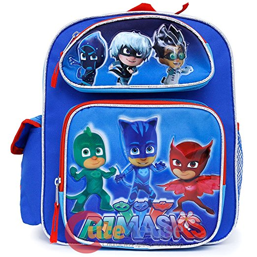 Small Backpack Pj Masks Catboy Owlette Gekko Blue 12