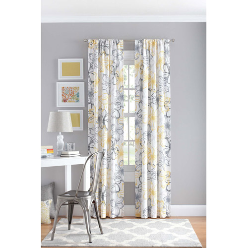 Ellery Holdings LLC your zone floral polyester curtain panel