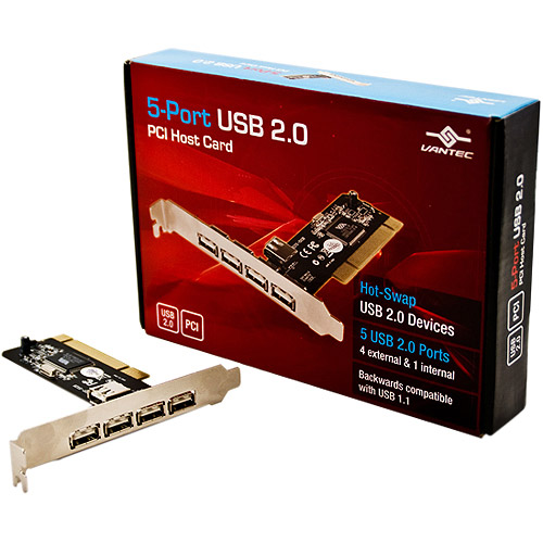 Vantec 5-Port USB 2.0 PCI Host Card