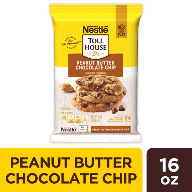 Nestle Toll House Peanut Butter Chocolate Chip Cookie Dough 16 Oz Walmart Com Walmart Com