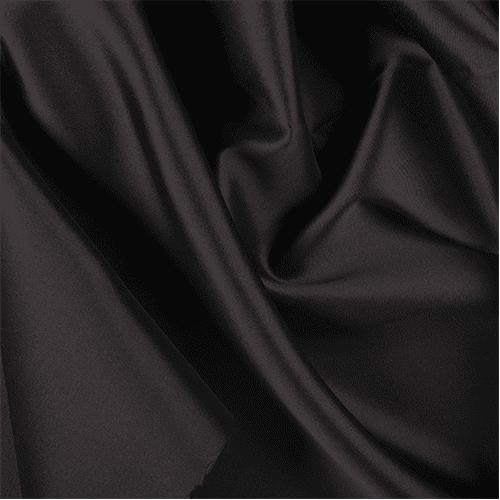 Black Silk Wool fabric woolen fabric by the yard