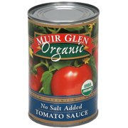 Muir Glen No Salt Added Tomato Sauce, 15 oz (Pack of 12)