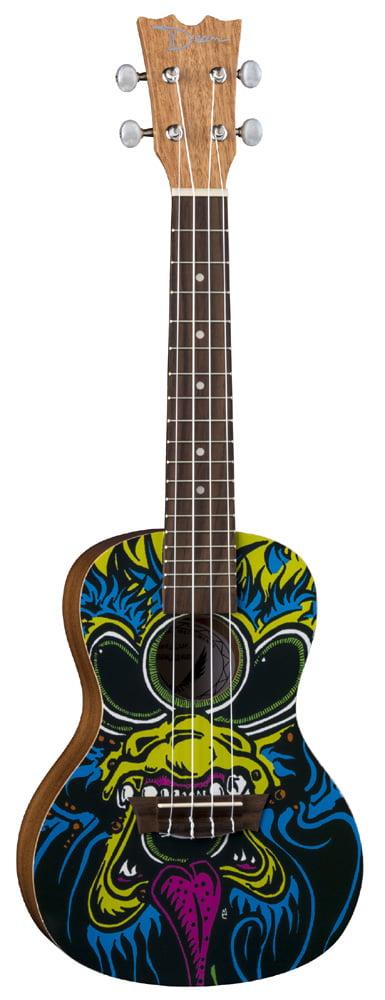 Dean 4-String Ukulele Guitar Concert Custom Oni Graphic Finish (UKE DC ONI) by