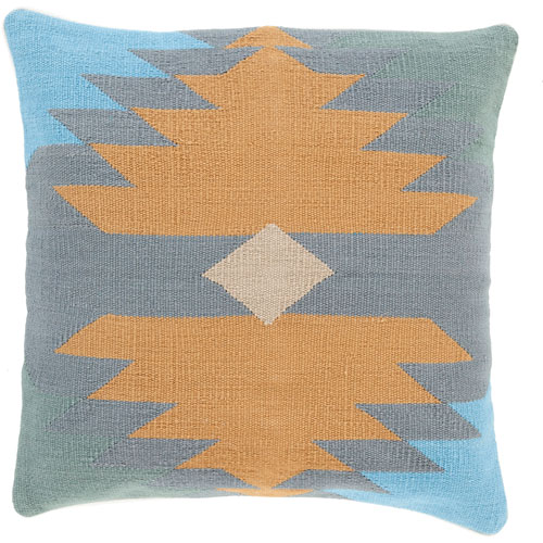 Cotton Kilim Brown and Gray 20-Inch Pillow Cover