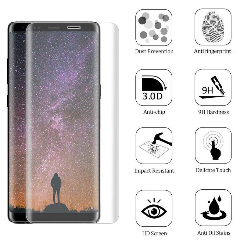 SAMSUNG GALAXY NOTE 8 TEMPERED GLASS SCREEN PROTECTOR FOR SAMSUNG GALAXY NOTE 8 BUBBLE FREE HD PROTECTIVE FILM CLEAR
