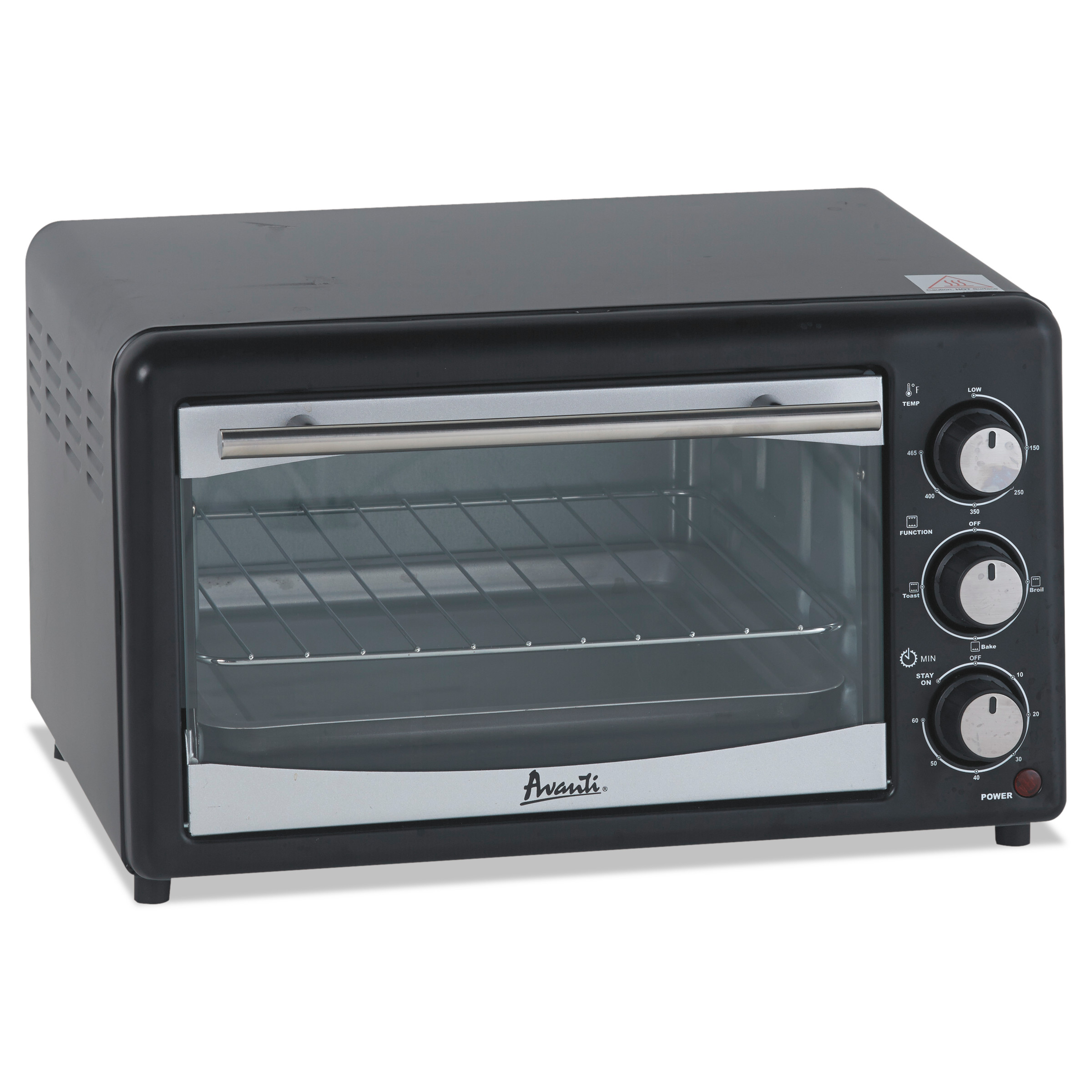 Avanti Toaster Oven, 4 Slice Capacity, Stainless Steel/Black