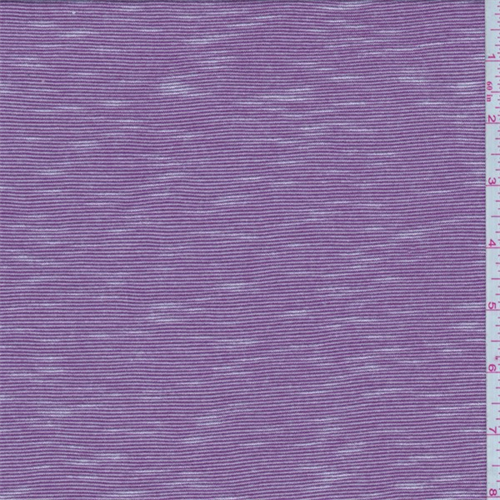 Plum/White Micro Stripe Jersey Knit, Fabric By the Yard