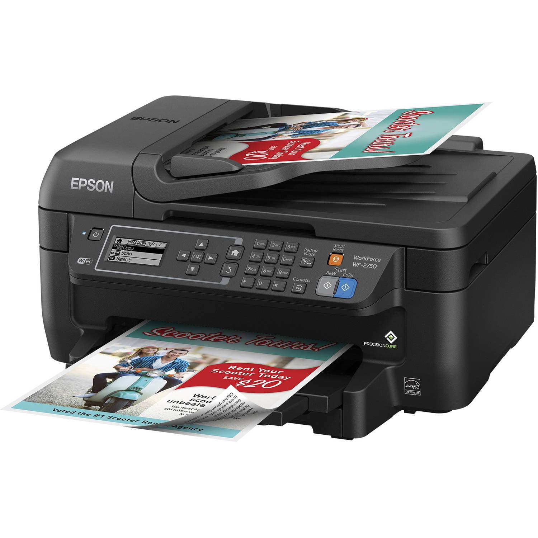 Color printing in windows 10 - Epson Workforce Wf 2750 All In One Wireless Color Printer Copier Scanner Fax Machine Walmart Com