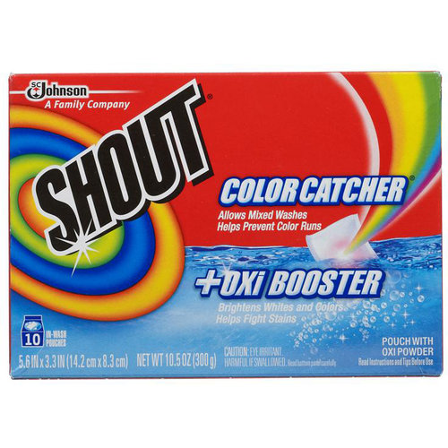 SC Johnson 72804 10C Shout Color Catcher With Oxi Booster - 10 Count Pack Of 6