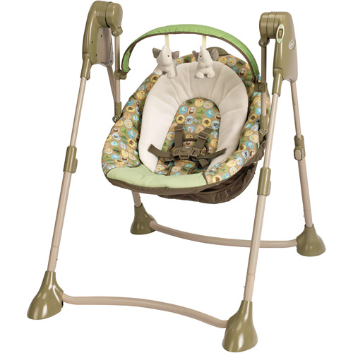 Graco - Swing by Me Portable 2-in-1 Swing, Zooland
