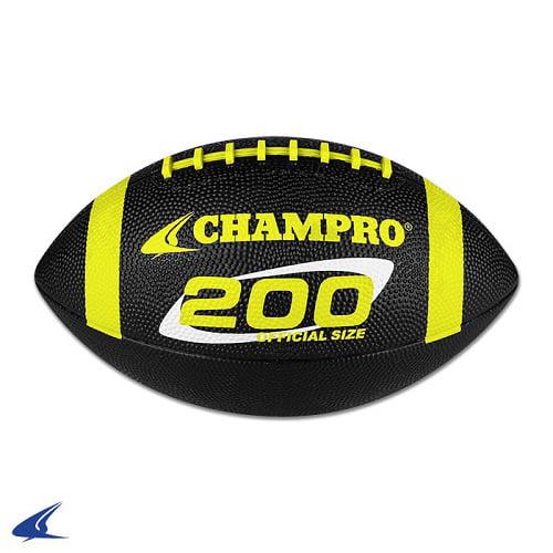 "CHAMPRO ""200"" Rubber Football Intermediate Black/Yellow"