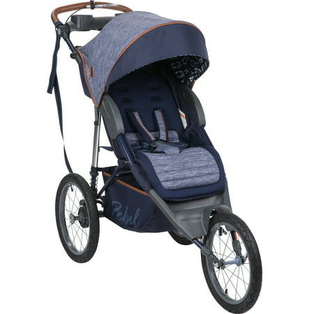 Monbebe Rebel Jogging Stroller, Boho (Black Label Running Rebels)