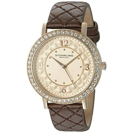 Audrey Leather - Stuhrling 786 02 Women's 'Audrey 786' Quartz Leather Dress Watch