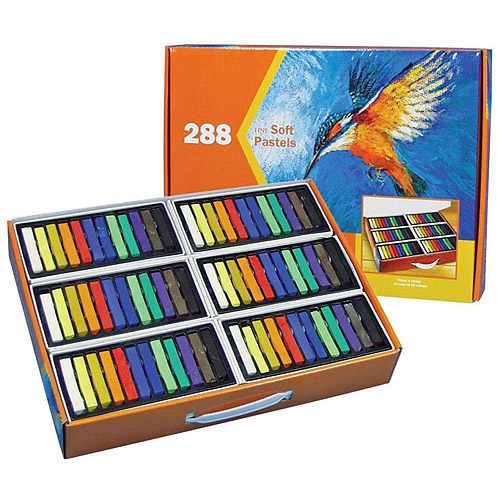 Reeves Water Soluble Soft Pastels, 24 each of 12 Multiple Colors, Set of 288