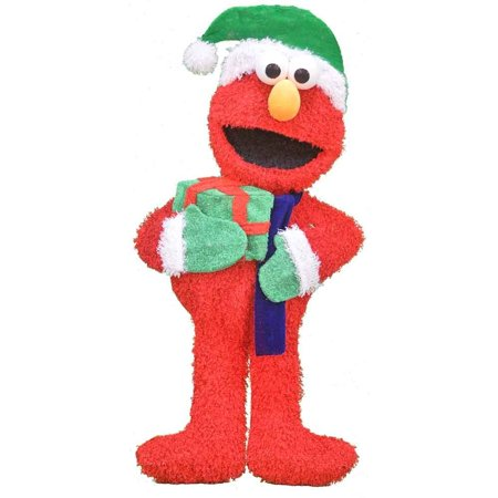 product works 32 inch pre lit sesame street elmo merry christmas yard decoration - Walmart Christmas Yard Decorations