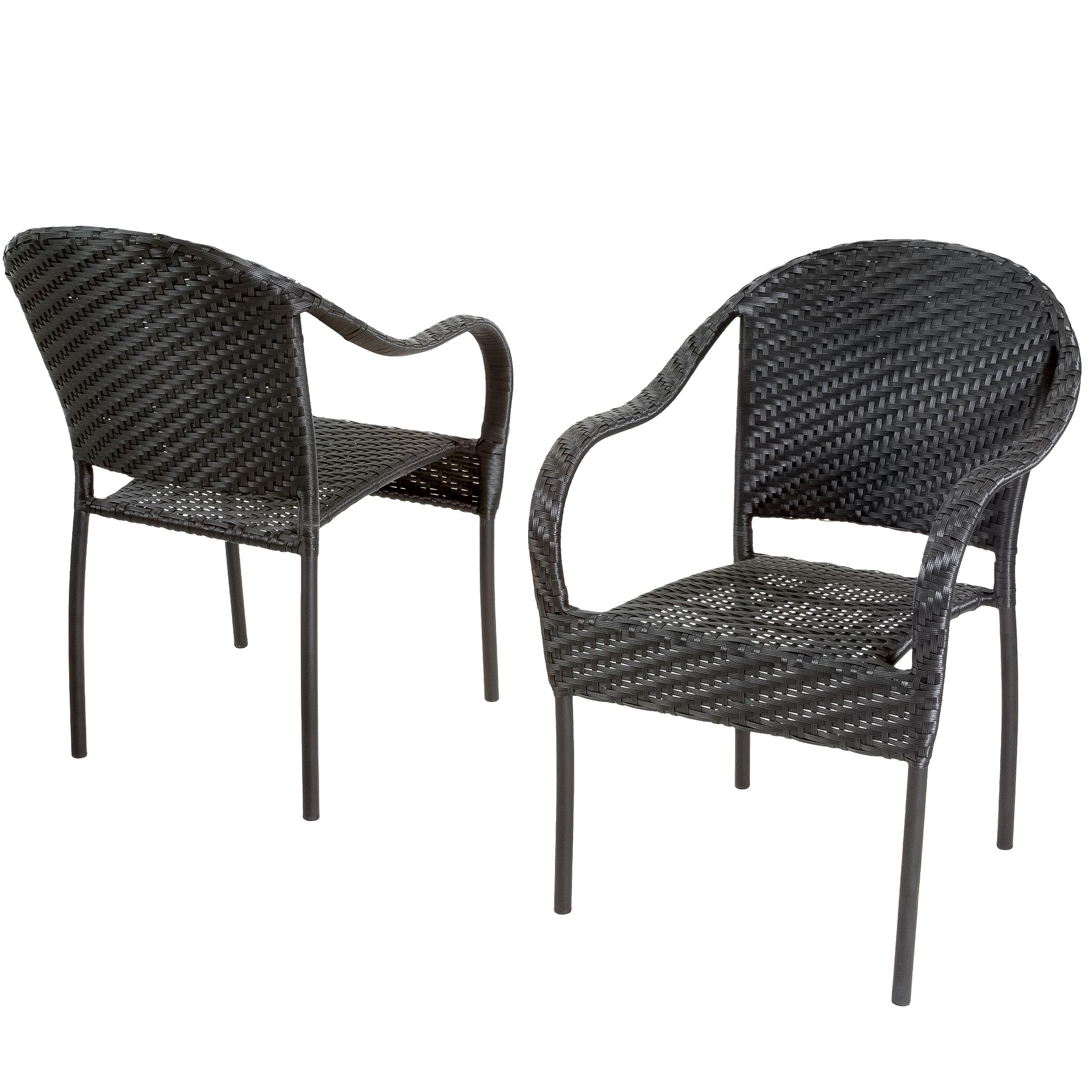 Dawn Outdoor Black Wicker Armchair