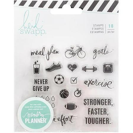Heidi Swapp Memory Planner Clear Stamps-Fresh Start, Exercise