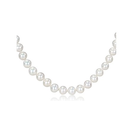 18 Inch Freshwater Cultured White Potato Pearl 7-7.5mm Necklace with Silver Clasp - image 1 de 1