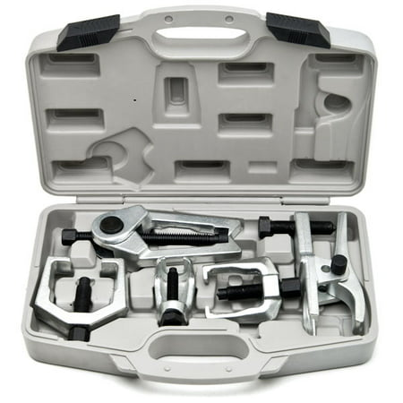 Biltek 6pc Front End Service Tool Kit Ball Joint Separator Pitman Arm Tie Rod (Rod End Heim Joint Link)