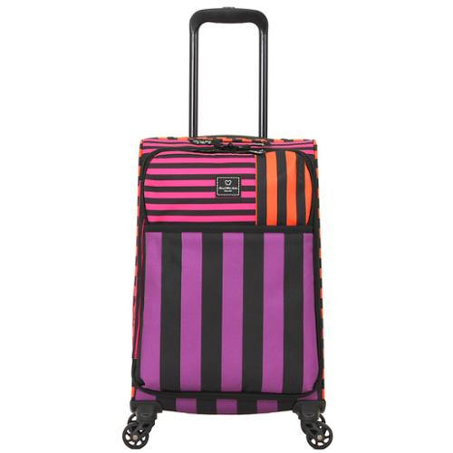 Group III International French West Indies 20-inch Carry-On Spinner Upright Striped Suitcase