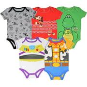 Disney Pixar Toy Story Woody Buzz Lightyear Rex Slinky Dog Baby Boys 5 Pack Bodysuit 3-6 Months