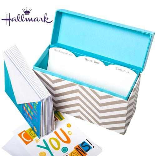 Hallmark Greeting Card Organizer Display With 12 Cards  Envelopes