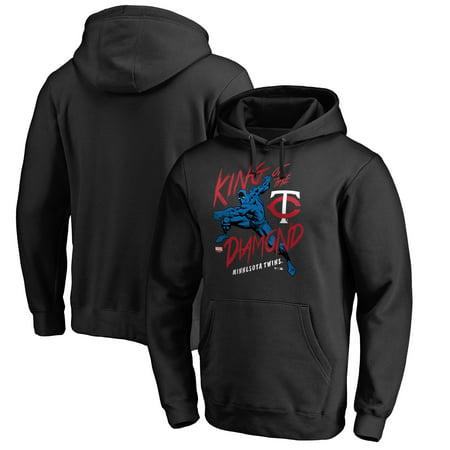 - Minnesota Twins Fanatics Branded MLB Marvel Black Panther King of the Diamond Pullover Hoodie - Black