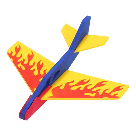 Children Hand Throw Launch Plane Model Outdoor Handmade Flying Glider Airplanes Foam Roundabout Aircraft Fighting Toys for Kids Multicolor