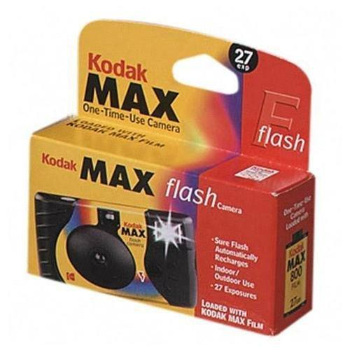 Kodak Max One-Time Use Camera with Flash - 35mm Disposable Camera - 35mm)
