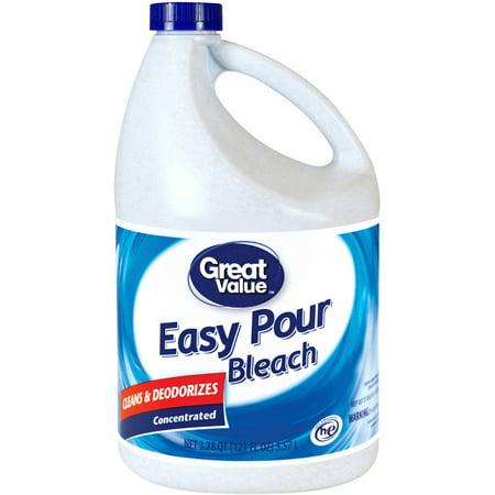 Great Value Low Splash Bleach, Original, 121 fl oz