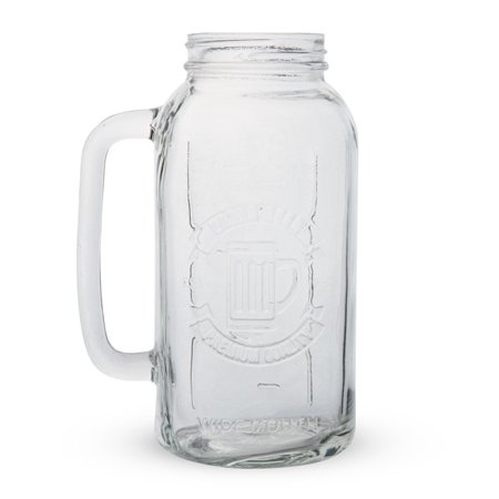 Mason Jar Beer Stein - 2 Liters