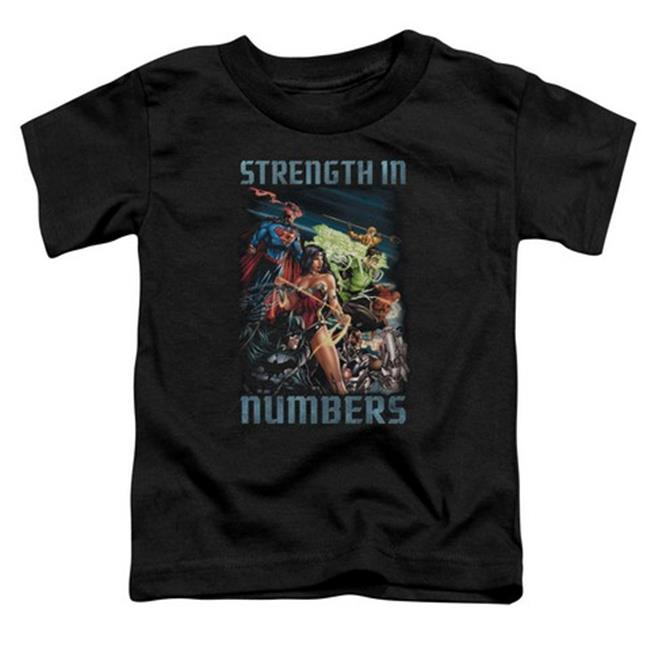Trevco Jla-Strength In Number Short Sleeve Toddler Tee, Black - Small 2T