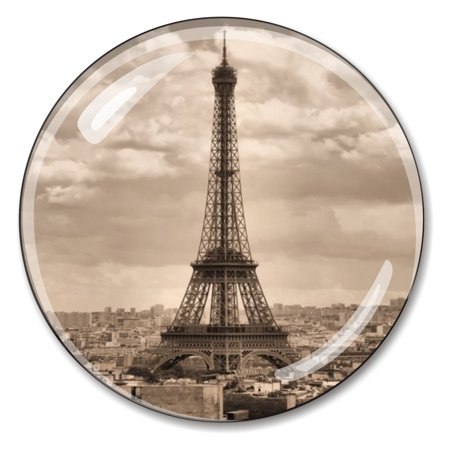 Optical Crystal Diamond Paperweight - Eiffel Tower French Crystal Paperweight