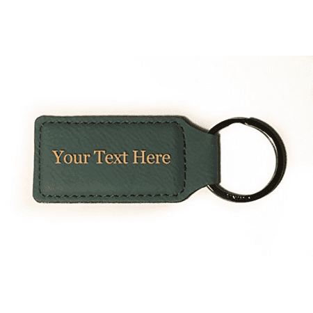 Customized 3D Laser Engraved Custom Personalized Keychain Gift (GRAY) ()