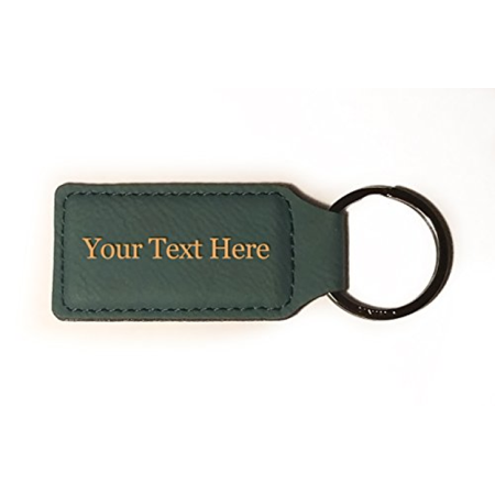 Customized 3D Laser Engraved Custom Personalized Keychain Gift (GRAY)