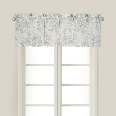 Floral Toile Drapes (15.5X72 Inches Valance, Clementina Cement, The size is: 15.5x72 By CF Home from USA)