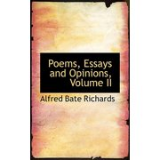 Poems, Essays and Opinions, Volume II