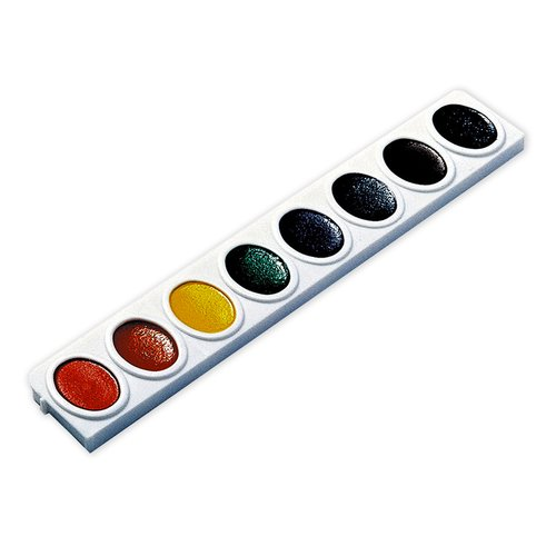 Dixon 3 Refill Trays Oval Pan Watercolors