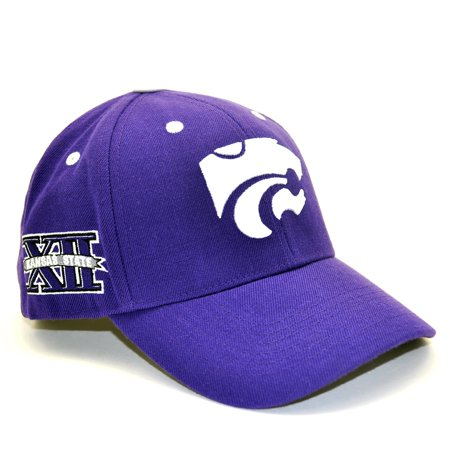 Kansas State Wildcats Official NCAA Adult One Size Adjustable Wool Blend Hat Cap by Top Of The World Ncaa Kansas State Wildcats Pattern