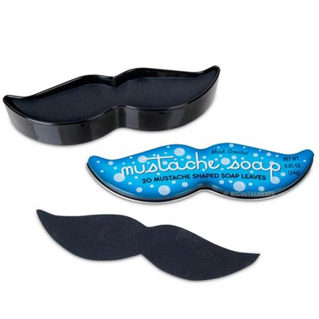 Mustache Novelty Soap Leaves In Collectible Tin