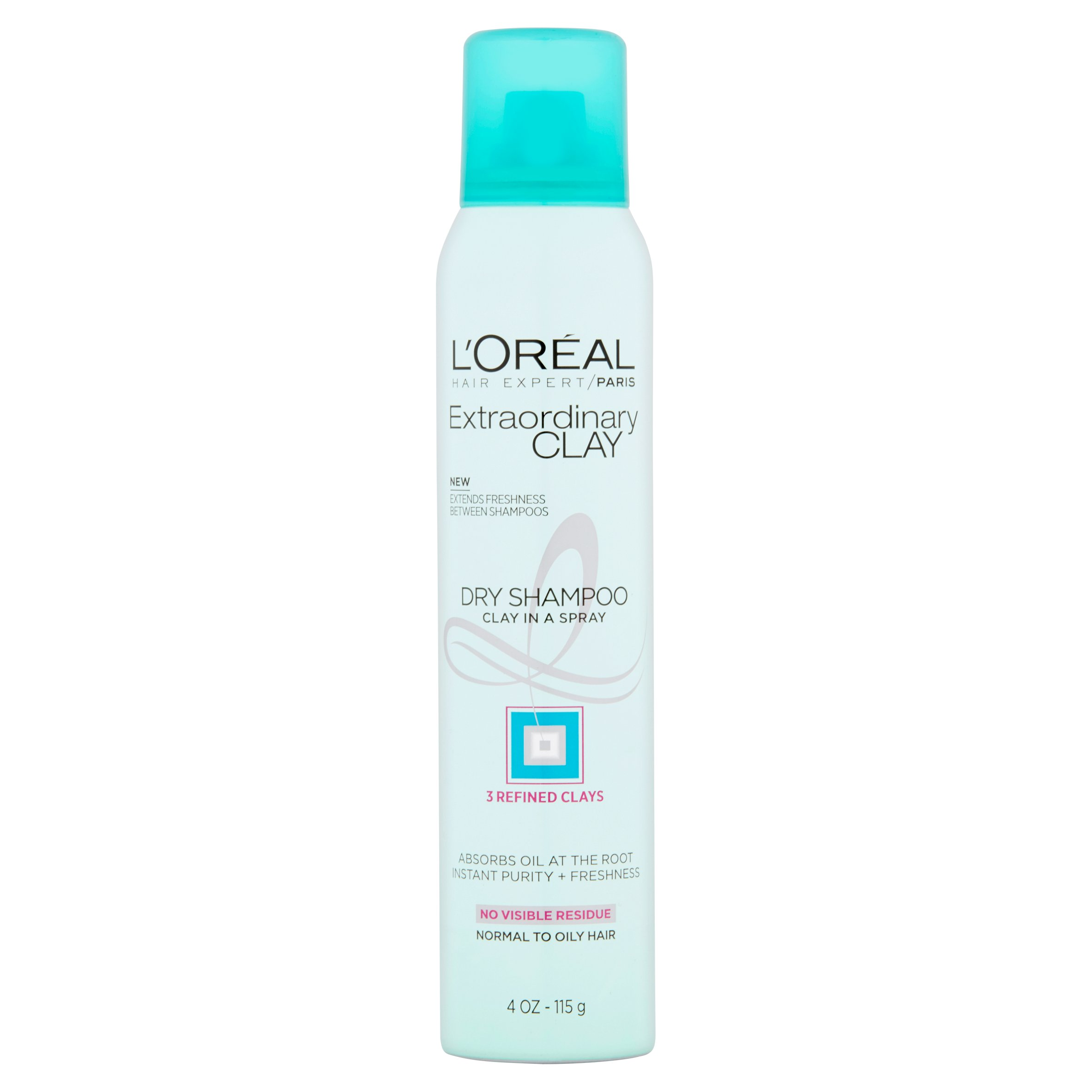 L'Oreal Paris Hair Expert Extraordinary Clay Dry Shampoo, 4 oz - Walmart.com
