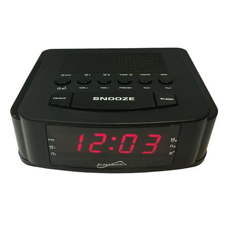 Dual Alarm Clock Radio with USB Charging Port ()