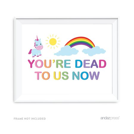 Funny Farewell Retirement Party Decorations, You're Dead to Us Now, Party Sign, 8.5x11-inch - Farewell Party Supplies
