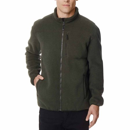 32 Degrees Heat Mens Sherpa Lined Fleece Jacket (Garden Green, X-Large)