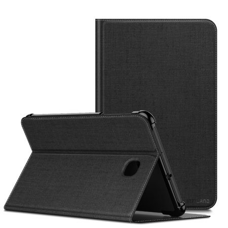 Infiland Wake/Sleep Multi-Angle Viewing Cover Case for Samsung Galaxy Tab A 8.0 T387 2018 Verizon, Black ()