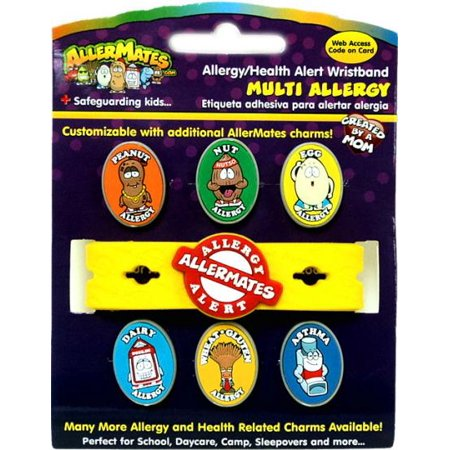 Image of AllerMates Multi-Allergy Awareness Wristband [Includes Asthma Charm]