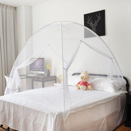 Gymax Portable Folding Mosquito Net Tent Bed Anti Zipper Mosquito Bites POP UP Net - image 4 de 9